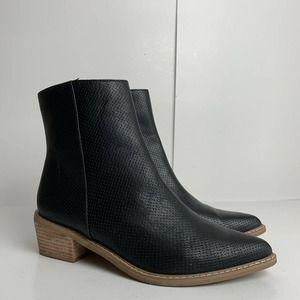 Mi.im Zip Up Black Heeled Ankle Boots